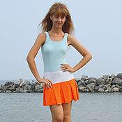 Одежда ручной работы. Ярмарка Мастеров - ручная работа Платье Мятно-апельсиновый коктейль. Handmade.