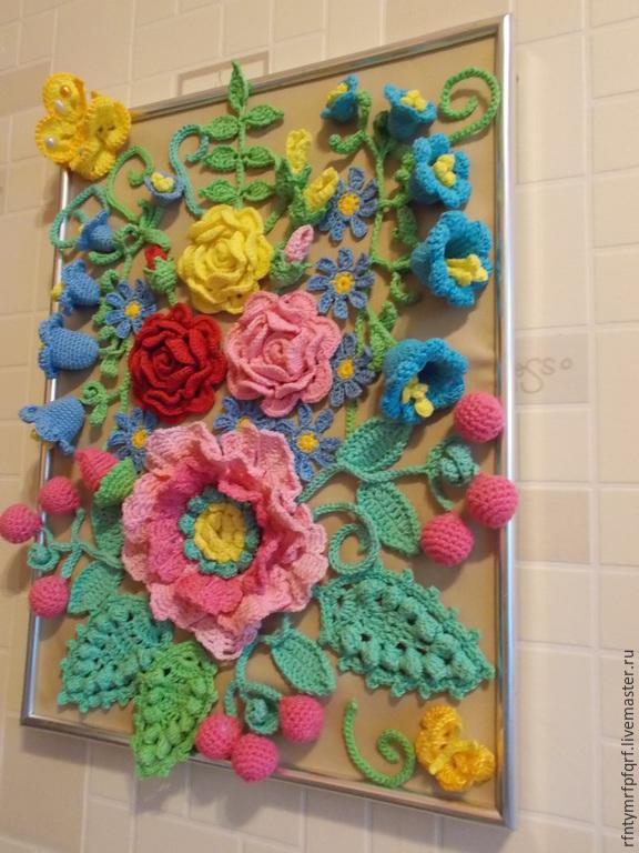 Вязание картин из цветов 845