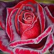 Картины ручной работы. Ярмарка Мастеров - ручная работа Бархатная роза. 50 на 60 см. Handmade.