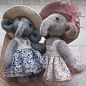 """Куклы и игрушки ручной работы. Ярмарка Мастеров - ручная работа Слоняшки """"Голубой и """"Розовый цветочек"""". Handmade."""