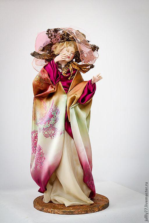 Коллекционные куклы ручной работы. Ярмарка Мастеров - ручная работа. Купить Анита. Handmade. Фуксия, авторская ручная работа, фимо