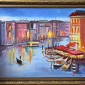 Картины и панно ручной работы. Ярмарка Мастеров - ручная работа Огни Венеции. Handmade.