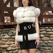 Одежда handmade. Livemaster - original item Fur vest from Fox. Handmade.