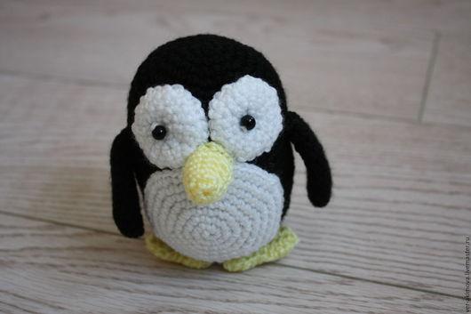 Игрушки животные, ручной работы. Ярмарка Мастеров - ручная работа. Купить Пингвин вязаный. Handmade. Комбинированный, пингвин крючком