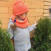 Работы для детей, ручной работы. Ярмарка Мастеров - ручная работа Пальто детское вязаное. Handmade.
