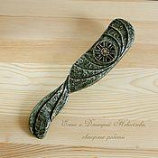 Предметы быта ручной работы. Ярмарка Мастеров - ручная работа Расческа декорированная с коловратом. Handmade.