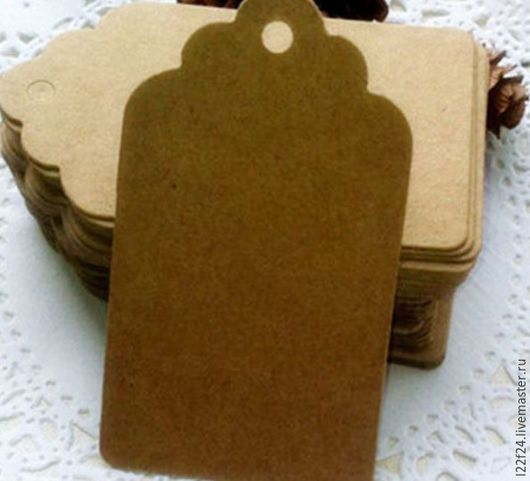 Упаковка ручной работы. Ярмарка Мастеров - ручная работа. Купить Бирки    4 см : 8 см. Handmade. Коричневый