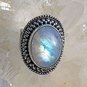 Украшения handmade. Livemaster - original item Ring, the Oval moonstone large. Handmade.