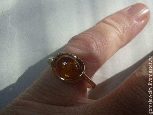 Кольца ручной работы. Ярмарка Мастеров - ручная работа. Купить Элегантное кольцо ЯНТАРЬ,серебро 925,позолота.. Handmade. Оранжевый