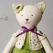 Куклы и игрушки ручной работы. Ярмарка Мастеров - ручная работа Кошечка Фиалка по мотивам Тильда. Handmade.