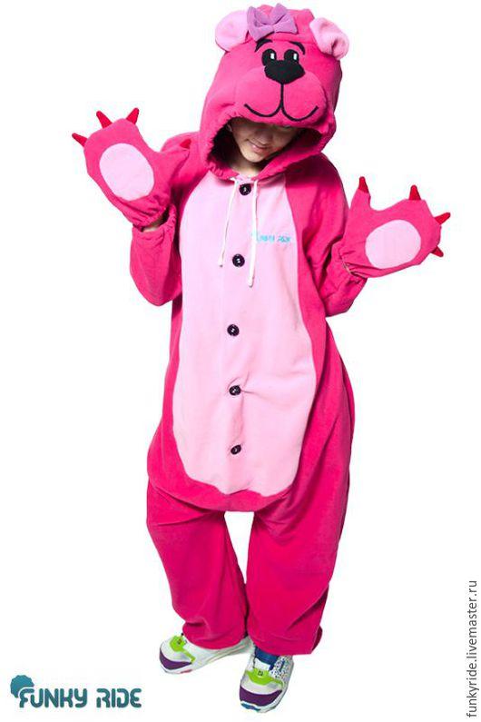 Карнавальные костюмы ручной работы. Ярмарка Мастеров - ручная работа. Купить Костюм кигуруми Розовый Мишка PINK BEAR KIGU. Handmade.