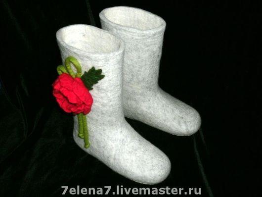"""Обувь ручной работы. Ярмарка Мастеров - ручная работа. Купить Валенки """"Маки"""". Handmade. Войлок, валенки ручной работы"""