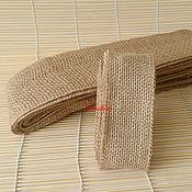 Материалы для творчества ручной работы. Ярмарка Мастеров - ручная работа Лента джутовая Т99, 2 размера. Handmade.
