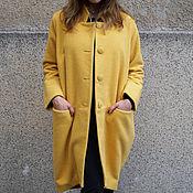 Одежда ручной работы. Ярмарка Мастеров - ручная работа Пальто из кашемира с шерстью / Зимнее пальто /F1266. Handmade.
