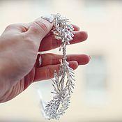 Свадебный салон handmade. Livemaster - original item Jewelry in hairstyle: rim-diadem
