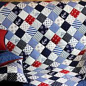 """Для дома и интерьера ручной работы. Ярмарка Мастеров - ручная работа Покрывало """"Морское -10"""". Handmade."""
