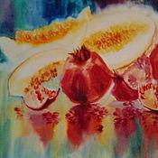 """Картины и панно ручной работы. Ярмарка Мастеров - ручная работа картина акварелью """"Красный гранат"""". Handmade."""