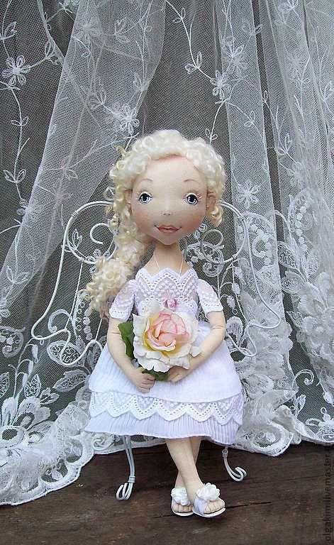 Коллекционные куклы ручной работы. Ярмарка Мастеров - ручная работа. Купить Хочешь,я буду Ангелом твоим?. Handmade. Белый