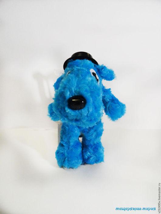 Игрушки животные, ручной работы. Ярмарка Мастеров - ручная работа. Купить Голубой щенок. Handmade. Голубой, голубой цвет