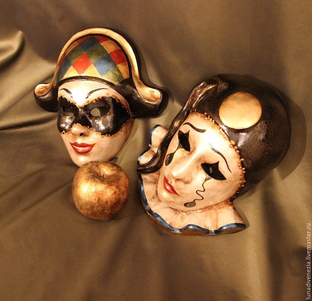 Маски венецианские Пьеро и Арлекино (пара) – купить в ... - photo#6