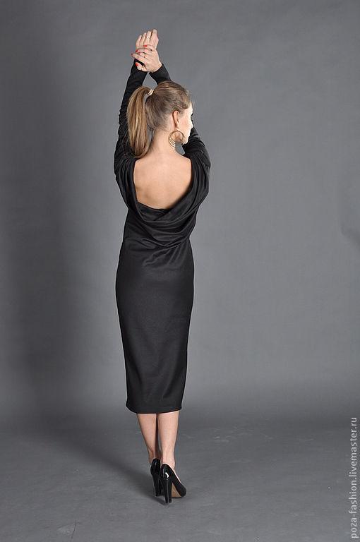 """Платья ручной работы. Ярмарка Мастеров - ручная работа. Купить Платье """"Искра"""". Handmade. Черный, черное платье, дизайнерская одежда"""