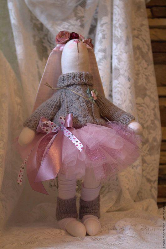 Коллекционные куклы ручной работы. Ярмарка Мастеров - ручная работа. Купить Зайка БАЛЕРИНА ELLA. Handmade. Комбинированный, заяц текстильный
