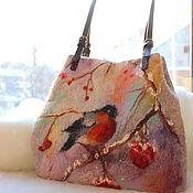 Сумки и аксессуары handmade. Livemaster - original item Bag felted Zimushka. Handmade.