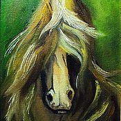 """Картины и панно ручной работы. Ярмарка Мастеров - ручная работа """"Лошадь в зеленом"""" Картина маслом. Handmade."""