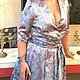 Платья ручной работы. Ярмарка Мастеров - ручная работа. Купить Summer rose платье из атласа. Handmade. Голубой, голубое купить