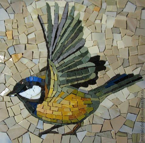 Животные ручной работы. Ярмарка Мастеров - ручная работа. Купить птицы смальта. Handmade. Птицы, мозаика, синица, панно в интерьер