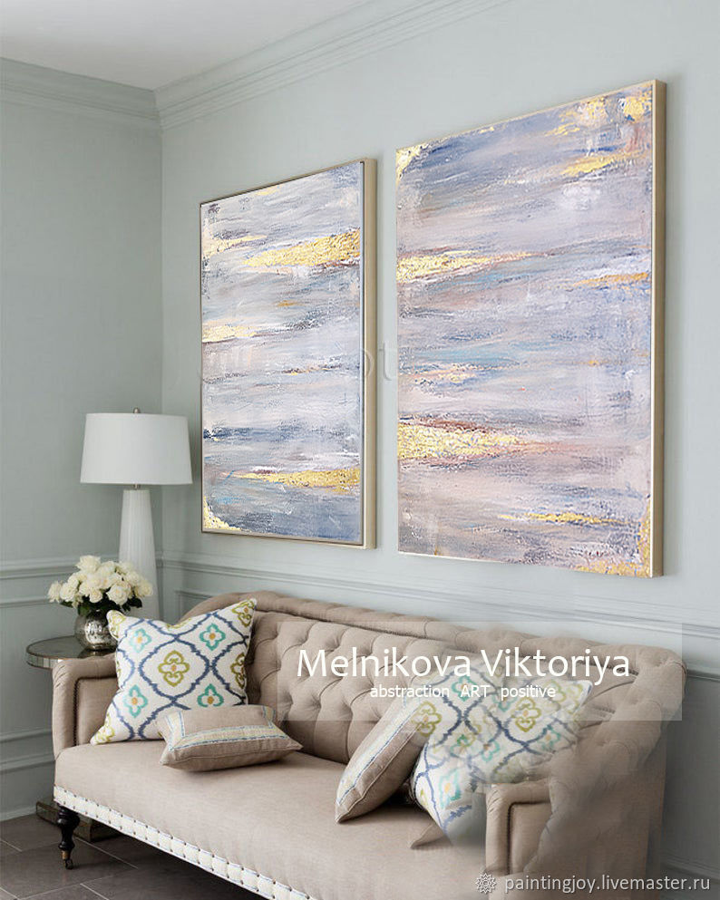 Diptych oil 'a Stylish duet of' abstraction 60/80 x2, Pictures, Stavropol,  Фото №1