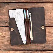 Сумки и аксессуары handmade. Livemaster - original item Travel holder for 2 passports made of leather.. Handmade.