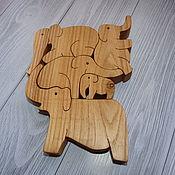 """Игровые наборы ручной работы. Ярмарка Мастеров - ручная работа Игровые наборы: Игра балансир - пирамидка """"Слоники"""". Handmade."""