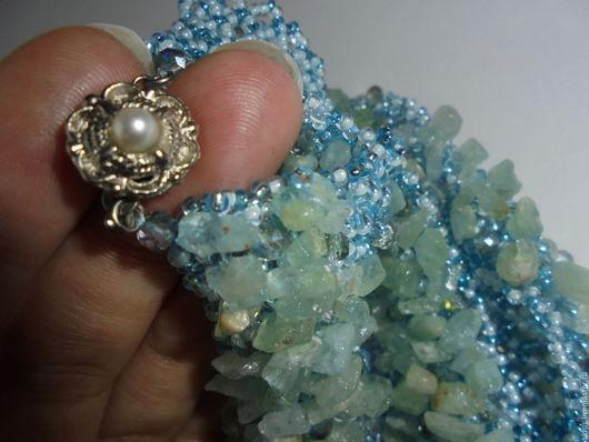 колье `Blue sky`, украшения с натуральными камнями, изделия ручной работы