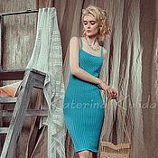 Одежда ручной работы. Ярмарка Мастеров - ручная работа Летний сарафан цвета бирюзовой эмали. Handmade.