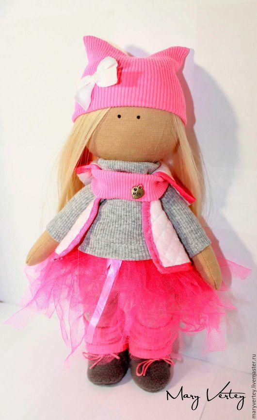 Куклы тыквоголовки ручной работы. Ярмарка Мастеров - ручная работа. Купить Интерьерная кукла. Handmade. Розовый, кукла в подарок
