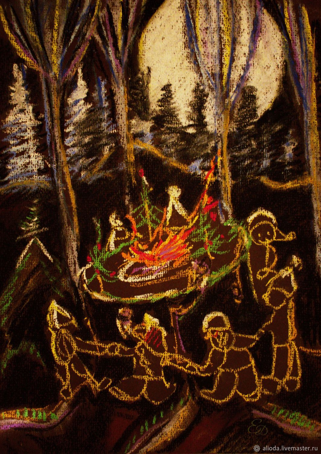 Illustration: campfire, Pictures, Gelendzhik,  Фото №1