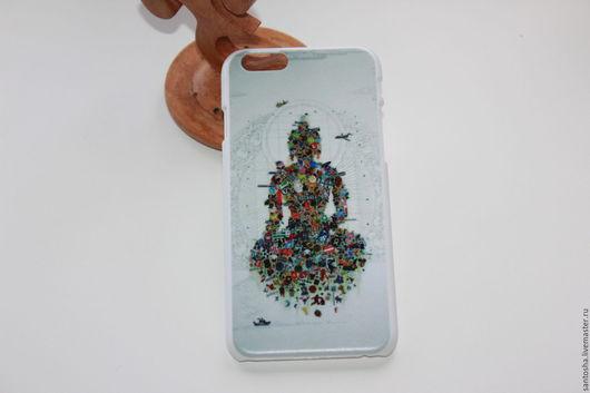 Для телефонов ручной работы. Ярмарка Мастеров - ручная работа. Купить Чехол Будда  на iPhone 6/6s (AK0043). Handmade. Комбинированный