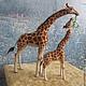 Игрушки животные, ручной работы. Жирафы. Natasha Yavid. Интернет-магазин Ярмарка Мастеров. Жираф, Валяние, сувениры ручной работы