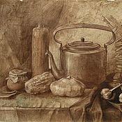 Картины и панно ручной работы. Ярмарка Мастеров - ручная работа натюрморт Монохромный графика. Handmade.