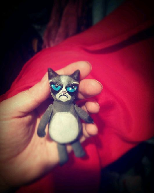 Игрушки животные, ручной работы. Ярмарка Мастеров - ручная работа. Купить Злой котик. Handmade. Кот, злойкот, злой, полиэстер