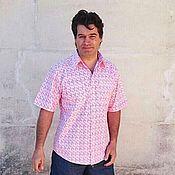 Одежда ручной работы. Ярмарка Мастеров - ручная работа Мужская рубашка Рыбки Хлопок 100%. Handmade.