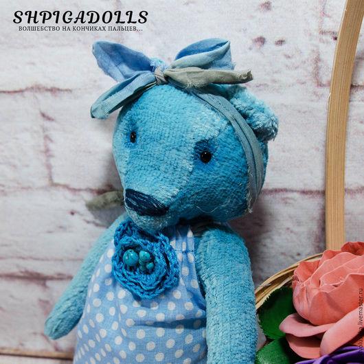 Голубой мишка тедди Варенька