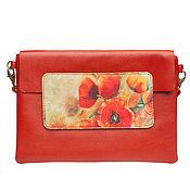 """Классическая сумка ручной работы. Ярмарка Мастеров - ручная работа Сумка кросс-боди """"Опиум"""", цвет красный томат. Handmade."""