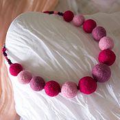 Украшения ручной работы. Ярмарка Мастеров - ручная работа Эко-бусы Pink Sorbet. Handmade.