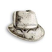 Аксессуары handmade. Livemaster - original item Hat Python BONNIE. Handmade.