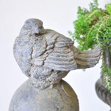 Для дома и интерьера ручной работы. Ярмарка Мастеров - ручная работа Птица на шаре статуэтка для сада Прованс Винтаж Кантри. Handmade.