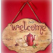Для дома и интерьера ручной работы. Ярмарка Мастеров - ручная работа Табличка на дверь. Handmade.