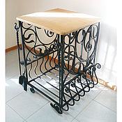 Дача и сад handmade. Livemaster - original item Forged woodcutter with a wooden table top. Handmade.