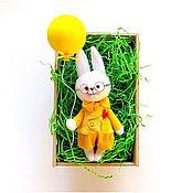 Мягкие игрушки ручной работы. Ярмарка Мастеров - ручная работа Солнечный зайчик. Handmade.